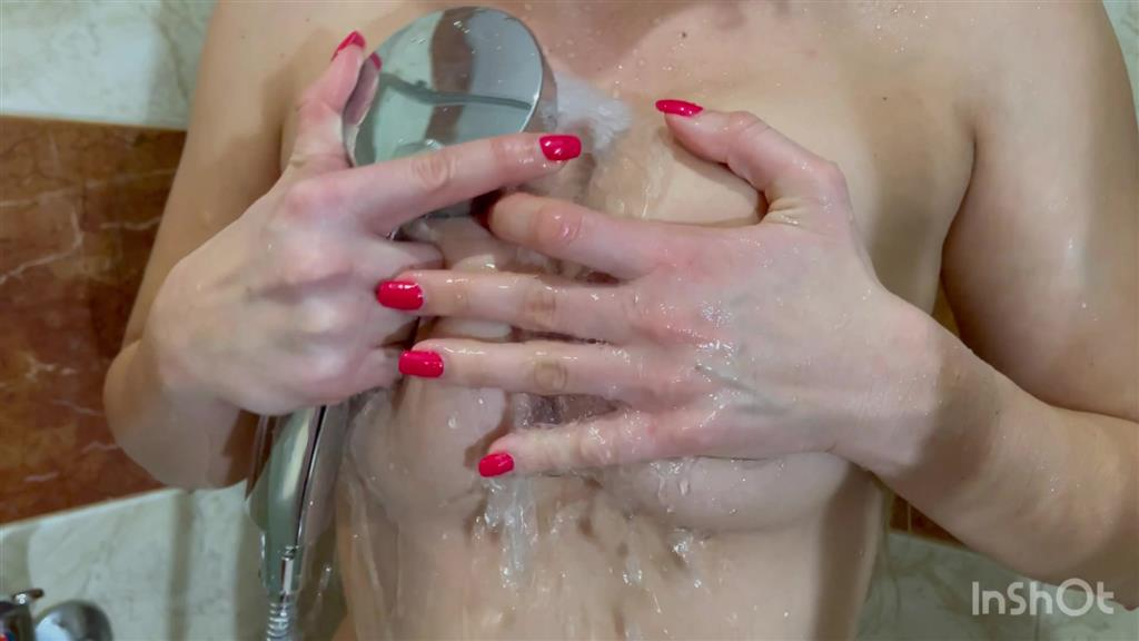 Shower finger masturbation
