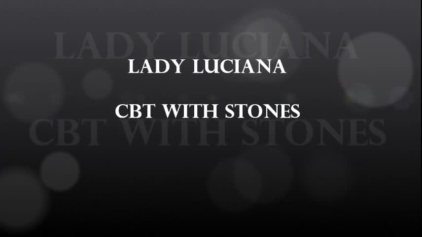 cbt with stones