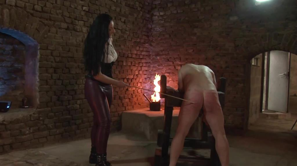 Hard Caning for The Slave