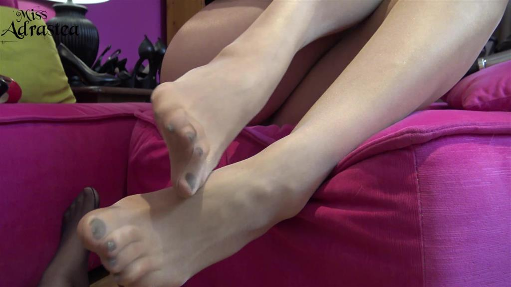 Ruined Creamy Nylon Footjob