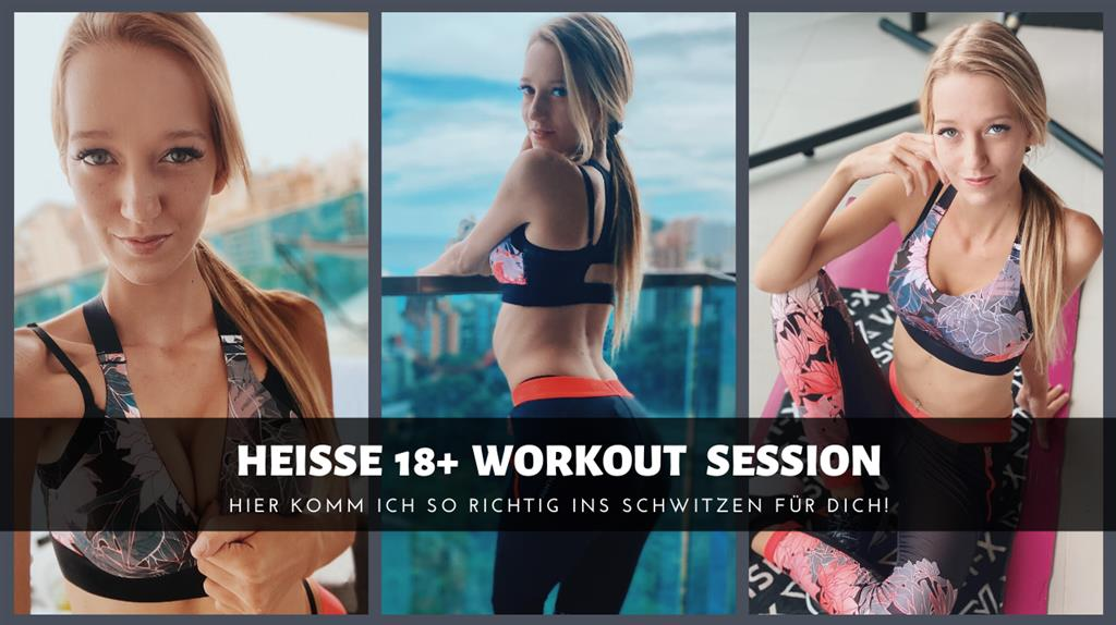 Workout Session - Leggings, Sneakers, und Komplett Nackt