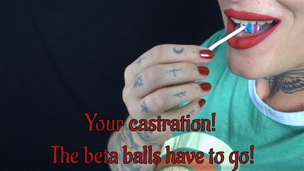 Your castration! The beta balls have to go! english clip!