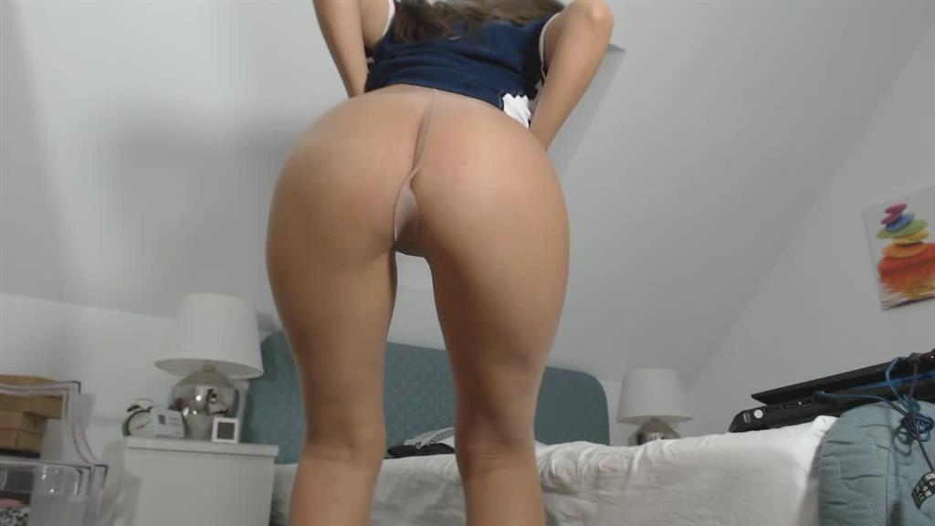 sexy round ass in sheer tights