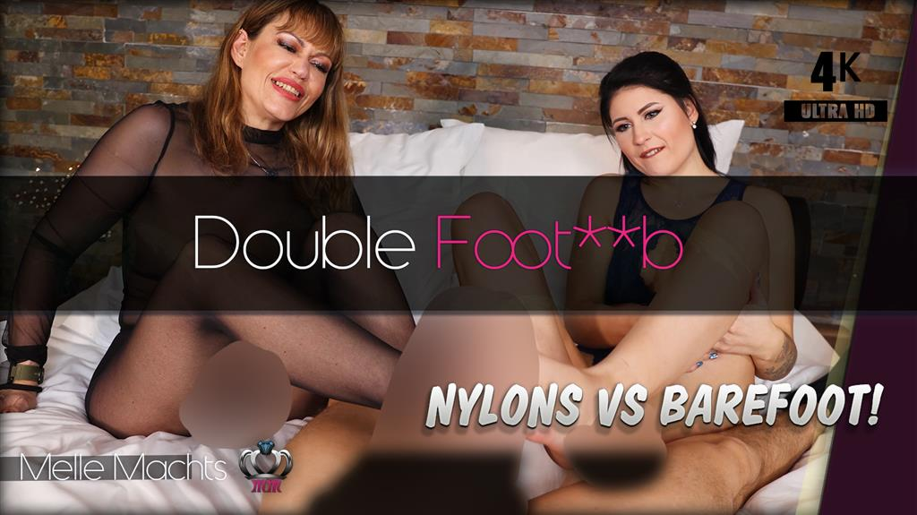 Dirty Double Footjobs - Nylons oder Barfuß? (4K)
