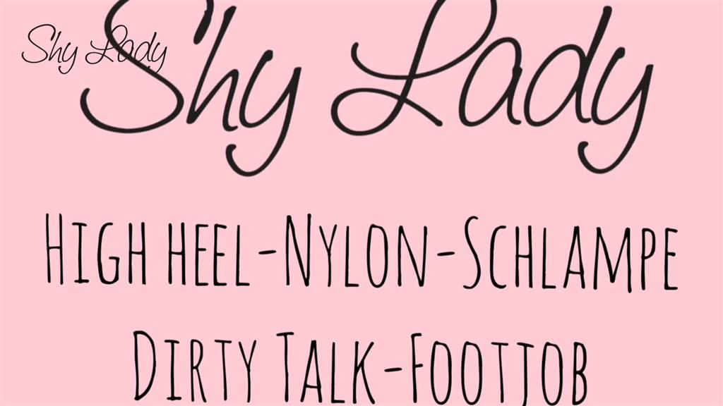 Nylon Schlampe und Highheels.... Dirty Talk Footjob